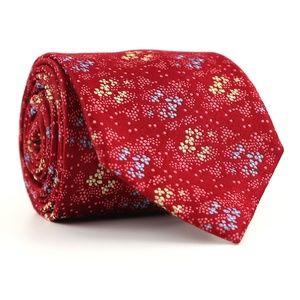 Charles Tyrwhitt Silk Neck Tie Red Floral Patern